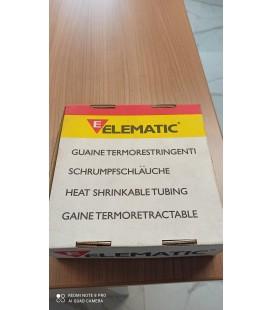 GUAINE TERMORESTRINGENTI D.9.5/D1 4,7,10 METRI EV BOX 100 NERO  ELEMATIC