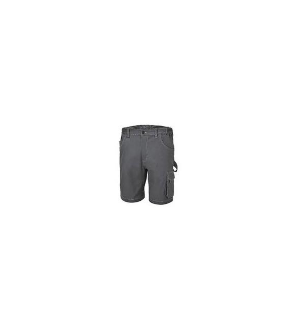 """Pantaloncini da lavoro elasticizzati  tg.xxxl Stretch """"slim fit"""" grigio beta 7831ST"""
