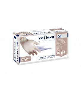 GUANTI IN LATTICE CON POLVERE  GR.5,0,REFLEXX R51 PZ.100