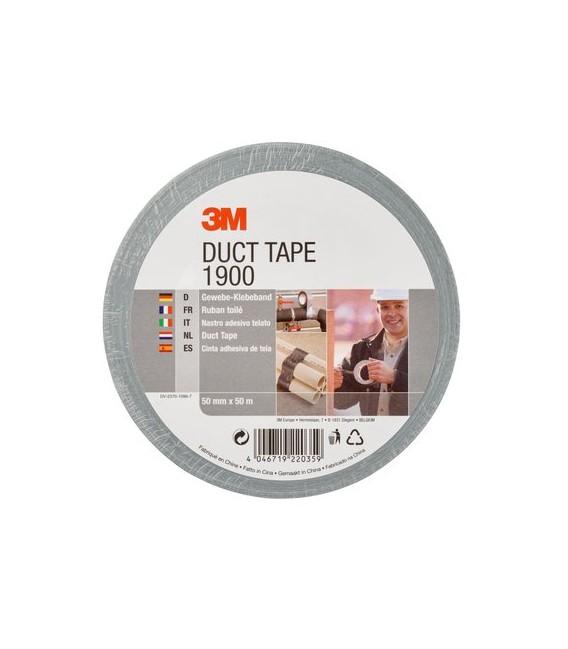 Nastro adesivo Value Duct Tape 1900, Argento, 50 mm x 50 m 3M