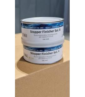 STUCCO EPOSSIDICO BICOMPONENENTE PER RASATURA A FINIRE STOPPER FINISHER SOL. A+B 0.250L.IBS