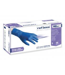 Guanti In Lattice High Risk blu Senza Polvere Reflexx R98 – gr. 18,5 PZ. 50