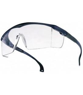 Portwest - Occhiali di protezione Basic, conformi norma EN166, lente trasparente e montatura blu